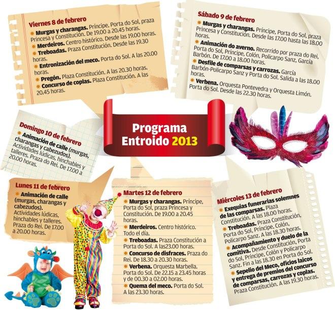 Programa de Entroido de Vigo 2013
